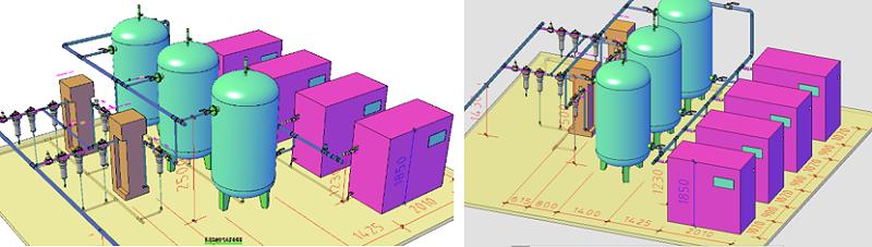 气源设备BIM设计局部展示图
